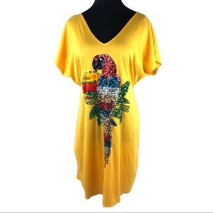 RAD Vintage 80's Parrott t-shirt dress